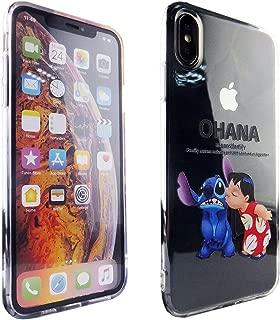 Ohana iPhone Xs Max Case, DURARMOR FlexArmor Rubber Flexible Bumper Shockproof Ultra Slim TPU Case Drop Protection Cover for iPhone Xs Max,Lilo & Stitch Ohana