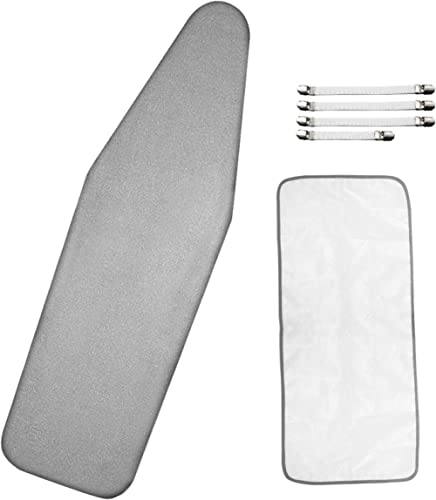Dalykate Ironing Board Cover 21 x 57 with Scorch and Stain Resistant Thick Padding and Elasticized Edge Ironing Board...