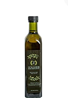 Zougheib Organic Extra Virgin Olive Oil – Pure Single Origin Olive Oil blended with Amyouni and Aayrouni Olives, Non-Aller...