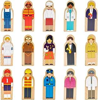 Imagination Generation Little Professionals Wooden Character Set (15 Pieces)
