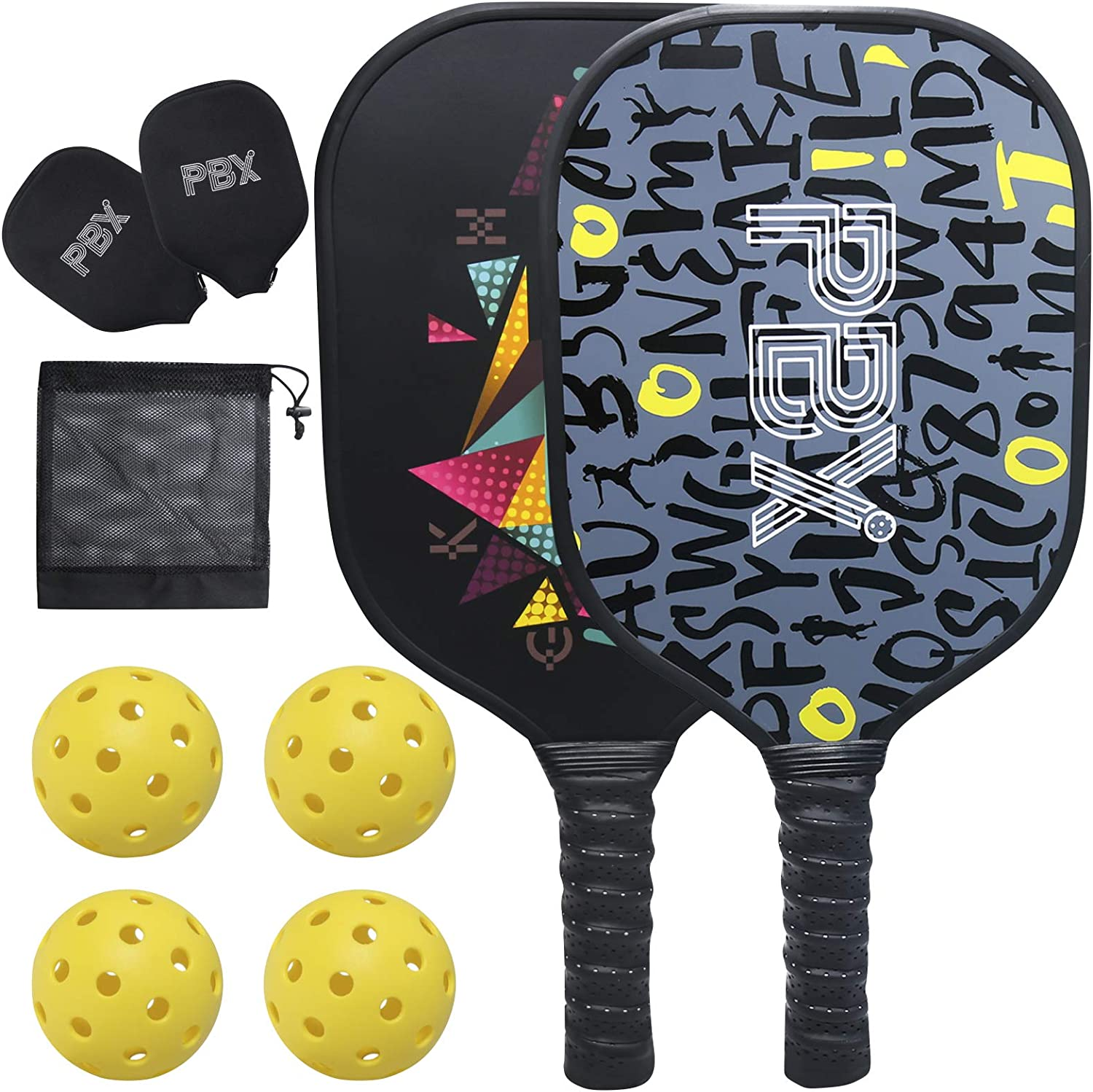 Pickleball Arlington Mall Paddles Set of 2 Graphite Premium PBX by Recommended