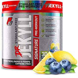ProSupps® Dr. Jekyll® Signature Pre-Workout Powder, Stimulant & Caffeine Free, Intense Focus, Energy & Pumps, (30 Servings...
