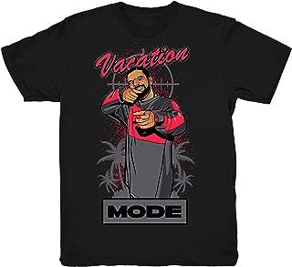 Infrared 6 Drake Vacation Mode Shirt to Match Jordan 6 Infrared Sneakers Black t-Shirts