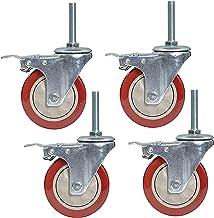 4 stks Meubilair Casters Heavy Duty PVC Swivel Castor Wheels Trolley Caster Vervanging Werkbank Wielen, Threaded Stem M12x...