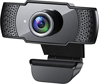 Webcam with Microphone, 1080P HD Streaming USB Computer Webcam [Plug and Play] [30fps] for PC Video Conferencing/Calling/G...