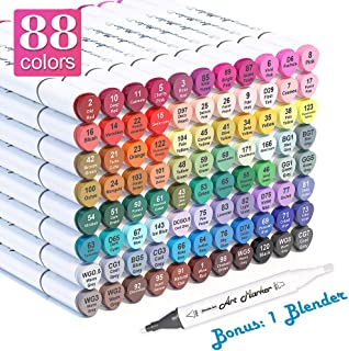 Shuttle Art 88 Colors Dual Tip Alcohol Based Art Markers,Permanent Marker Pens..