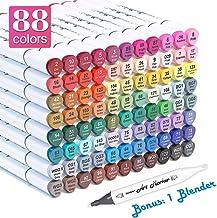 Shuttle Art 88 Colors Dual Tip Alcohol Based Art Markers,Permanent Marker Pens..