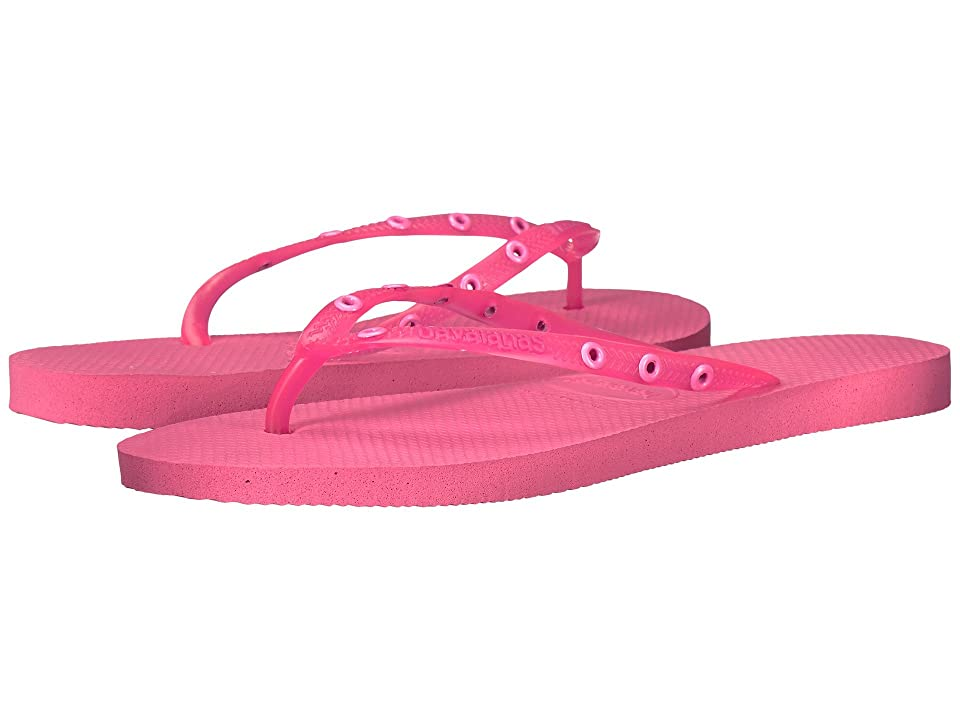 Havaianas Slim Candy Flip Flops (Shocking Pink) Women