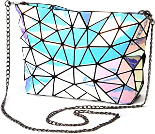 HotOne Tote bag Geometric Purse PU Leather Chain Crossbody Purse Clutch Purses for women