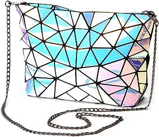 HotOne Geometric purse PU leather chain crossbody purse clutch purses for women