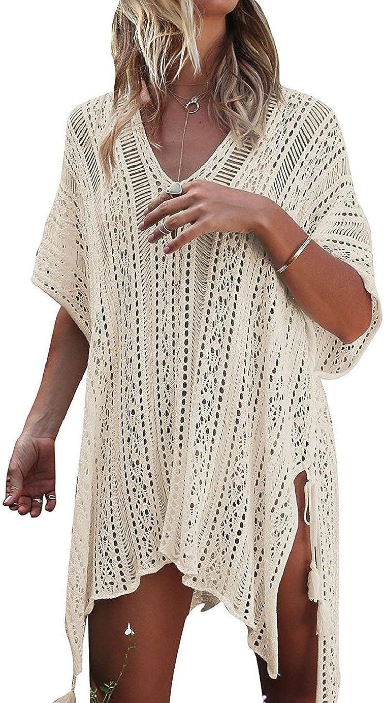 Tuopuda Mujer Pareos Playa Traje de Baño Vestido de la Playa Bikini Cover up Camisola de Playa