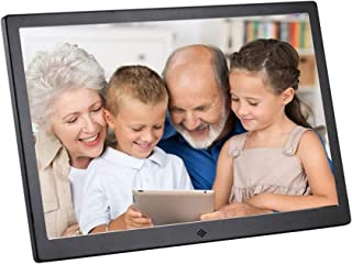 15 inch Digital Photo Frame, Metal Electronic Picture Frame USB SD/SDHC. MP3 / MP4 Player Support Clock & Calendar Functio...
