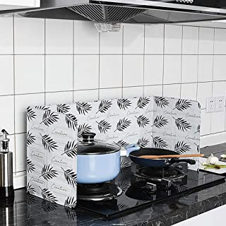 aluminio, 84,5 cm x 32,7 cm aprox. Cactus 1 protector de salpicaduras de aceite para cocina qhtongliuhewu