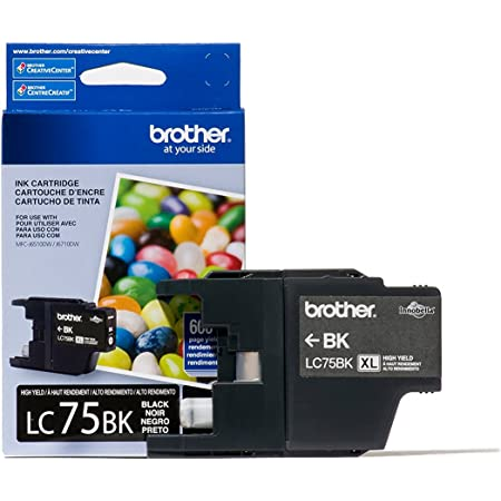 Brother Printer LC752PKS 2 Pack of LC-75BK Cartridges Ink - Retail Packaging