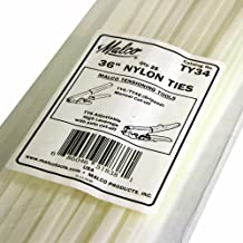 Malco TY34 25 Quantity Pack Nylon Ties 36-Inch for Flex Duct Installations