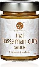WATCHAREE'S Thai Massaman Curry Sauce   Non-GMO   Authentic Traditional Thai Recipe   12.2oz Jar (1 pk)