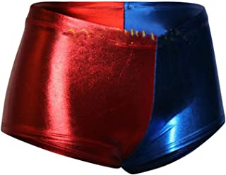 GirlzWalk ® WOMEN RED BLUE WET LOOK METALLIC HOT PANTS