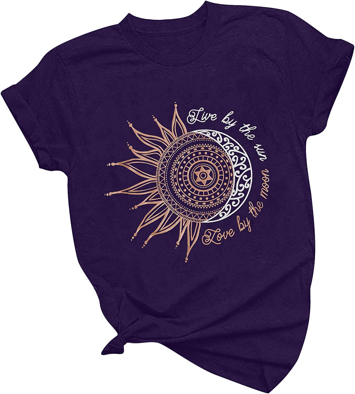 Womens Nashville-Davidson Mall Christian Award-winning store Shirts with Sayings Sun Moon Funny Graphic and