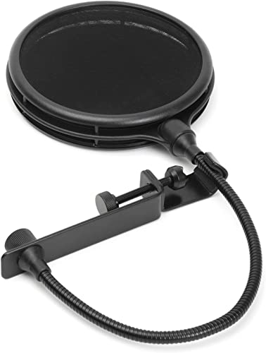 discount LyxPro MOP-28 wholesale Dual Layer Microphone Pop Filter with sale Flexible Goozeneck for Superior Vocal Performance, Pop Shield sale