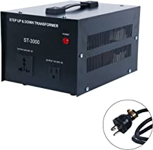3000-Watt Voltage Converter Transformer - 110V/220V - Circuit Breaker Protection