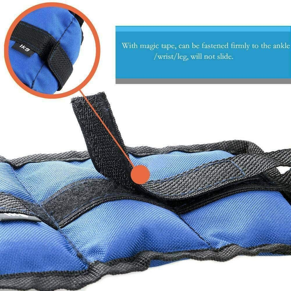 Ankle Weights Resistance Strength Training Exercise Wrist Bracelets Straps Gym Color : 3kgx2=6kg