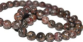 Leopard Skin Jasper 10mm Natural, Energy Gemstone | Healing Power for Jewelry Making | Loose Beads | 1strand 15.5 inch (46-50 Beads) | Well Polished Round | Oxxysaon (Leopard Skin Jasper, 10mm)