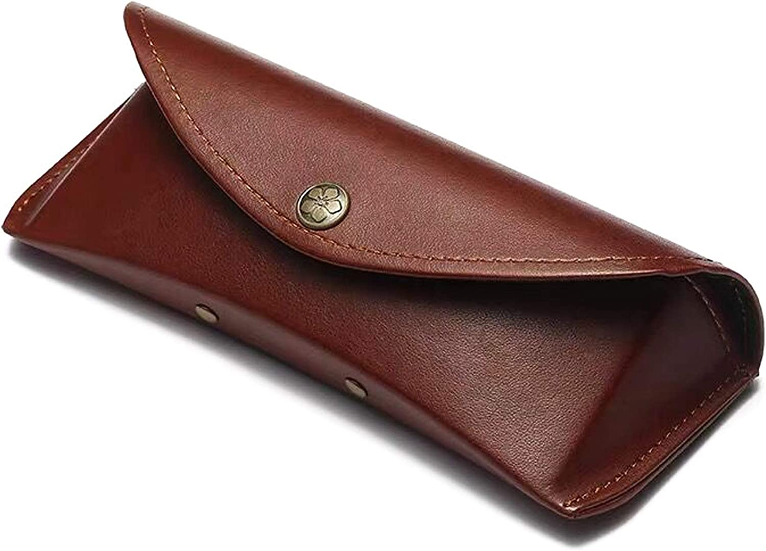 Longjet Glasses Case Leather Eye Glass Box with Anticollision Protective Holder for Eyeglass and Sunglasses