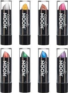 Cosmic Moon - Lápiz Labial Metálico - 5g - ¡Para unos labios metálicos fascinantes! - Set de 8 colores - Incluye: Plata, Oro, Oro Rosa, Rosa, Rojo, Verde, Azul, Púrpura