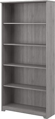 Bush Furniture Cabot Tall 5 Shelf Bookcase, 31W, Modern Gray