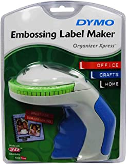 DYMO Embossing Label Maker with 3 DYMO Label Tapes | Organizer Xpress Pro Label Maker Starter Kit, Ergonomic Design, For H...