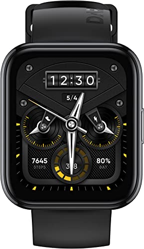 realme Smart Watch 2 Pro Space Grey with 1 75 HD Super Bright Touchscreen Dual Satellite GPS 14 Day Battery SpO2 Heart Rate Monitoring IP68 Water Resistance