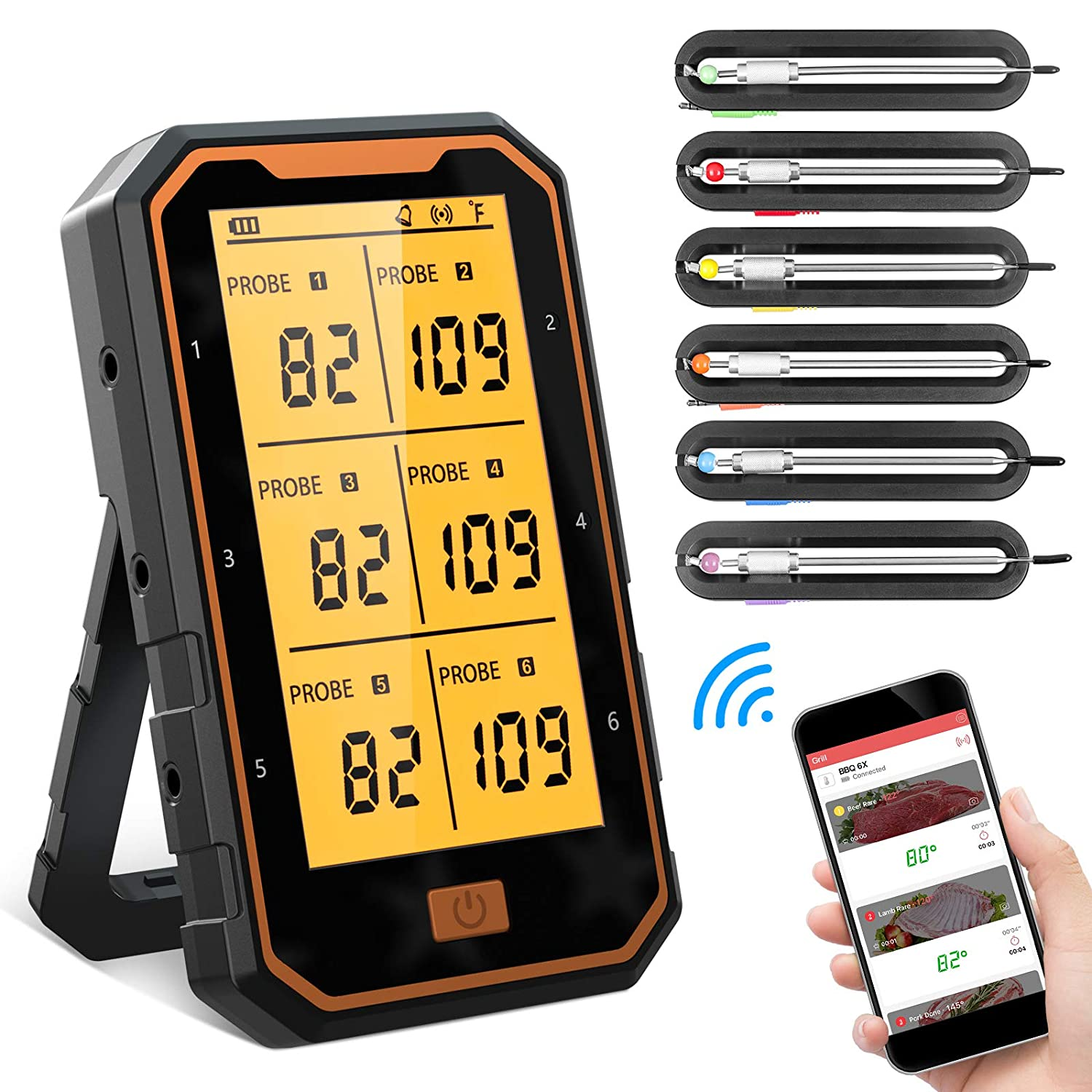 BOYON Meat Max 48% OFF Thermometers for Cooking Rechargeable B and Grilling Sale special price