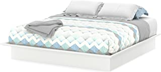 South Shore Step One Platform Bed with Molding, King 78-Inch, Pure White