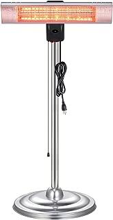 Xbeauty Infrared Patio Heater, Standing Indoor/Outdoor Garage Heater,Golden Tube for Instant Warm,Quiet Operation,Dust &Waterproof IP65 Rated