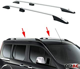 Portaequipajes de techo portaequipajes para mitsubishi asx 2010-2020 aluminio gris con TÜV Abe