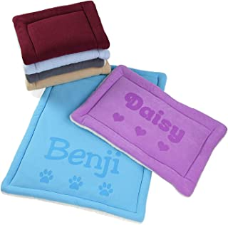 Personalized Dog Kennel Mat - Large or Small Pad, Cute Washable Bed Cushion - Cats or Dogs
