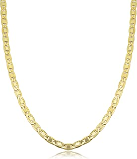 KoolJewelry 14k Yellow Gold Filled 2.2mm 3.5mm 4.4mm Solid Valentino Chain Necklace for Men and Women