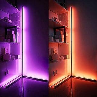 N/Z Équipement pour la Maison Lampadaire d'angle Décoration Nordique Lampadaires d'angle à LED pour Salon Veilleuse Gradat...