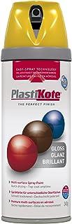 Plasti-kote 21105 400ml Premium Spray Paint Gloss - Yellow