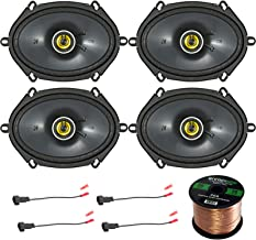 Car Speaker Set Combo of 4 Kicker 40CS684 6×8 Inch 450W 2-Way Car Coaxial Stereo..