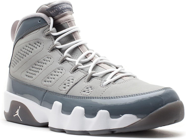 Mens Nike Air Jordan 9 Retro Basketball schuhe Medium grau   Weiß   Cool grau 302370-015 Größe 12 B00ALZEI8Y Bestseller