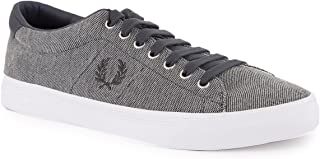 Fred Perry Underspin Pique Canvas Twill Sneakers For Men Grey Size 44 EU (9.5 UK)