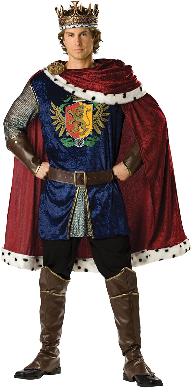 Men's Outstanding Noble San Diego Mall King Outfit Medieval Theme Fancy Halloween Cos Dress