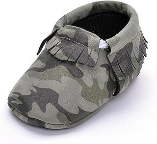 JILIGUALA Baby Soft Sole Camouflage Tassel Moccasin Infant Toddler Boys Girls Shoes Pre-Walker Slipper