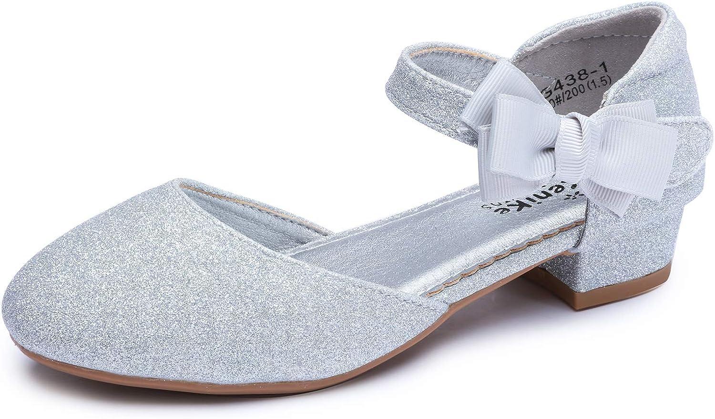 Minibella Girls Genuine Free Shipping Glitter Bowknot Princess M Party Max 56% OFF Wedding Sandals