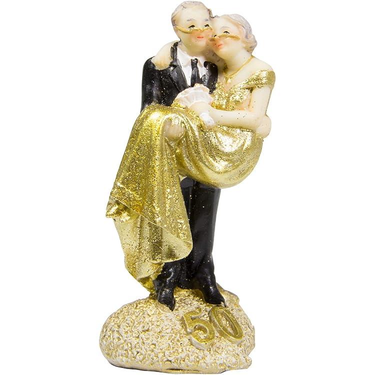 Statuetta coppia di sposi nozze d'oro 50 anni by folat 65131