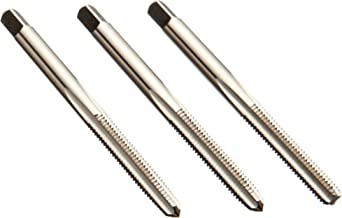 Union Butterfield 1528S(UNC) High-Speed Steel Hand Tap Set, Uncoated (Bright) Finish, Round Shank with Square End, 3-Piece (1 Taper, 1 Plug, 1 Bottoming Chamfer), H2 Tolerance, 6-32
