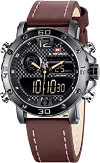 Watches for Men Men's Waterproof Sports Leather Watch...