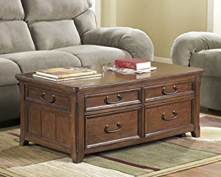 Ashley Furniture Wooden Lift Top Living Room Cocktail Table