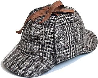 Unisex Sherlock Holmes Hat Detective Hat Deerstalker Hat for Adults & Kids